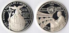 Medaglia Argento 925 Joannes Paulus PP. II 1979 ONU UnitedNations Fondo Specchio