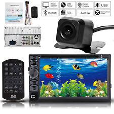 6.2'' 12V FM Car Stereo Radio Bluetooth 2 DIN In Dash Handsfree + Rear Camera US