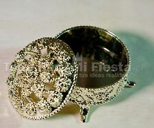 12 Wedding Party Favors Gold Trinket Box Fillable Recuerdos de Boda Cajita