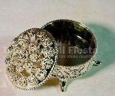 Wedding Party Favors Gold Trinket Box Fillable Recuerdos de Boda Cajita 12