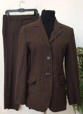 Escada Women's Brown Wool Blend 2Piece Stripe Pant Suit Size 38 /US 8 EUC, $1599
