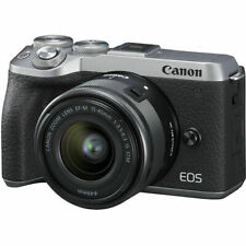 Neu Canon EOS M6 Mark II Mirrorless Digital Camera with 15-45mm Lens - Silver