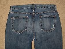 GAP Size 4 Ankle Original Long & Lean Flare Destroyed Medium Blue Denim Womens