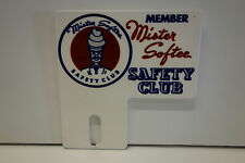 """MISTER SOFTEE SAFETY CLUB MEMBER 3"""" HIGH X 3"""" WIDE AUTO topper"""