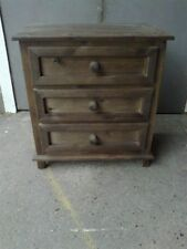 Handmade Oak Bedside Tables & Cabinets with 3 Drawers