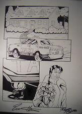 Razor 1992 Issue #8 Pg.#4 Original Art Page Signed by Hartsoe/Pollard