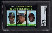 1971 TOPPS #709 ROOKIE STARS OUTFIELDERS BAKER/BAYLOR SGC 9.5 MINT++CENTERED!