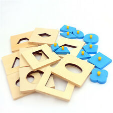 Edition Montessori Math Toys Wood Geometry Shape Education Training Toys N7