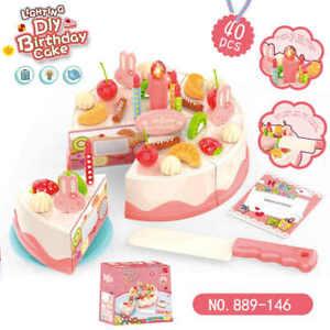 40 DIY Lighting Pretend Play Birthday Cake Kitchen Food Toys
