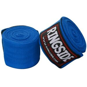 """New Ringside Mexican Style Boxing MMA Handwraps Hand Wrap Wraps 180"""" - Blue"""