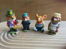 VINTAGE RICHARD SCARRY Mr Fixit, Marvin Mouse, Mayor Fox & Mrs Murphy figures