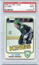 1981 O-PEE-CHEE HOCKEY #131 AL SIMS PSA 9 MINT NQ KINGS 1 OF 9 JUST 2 HIGHER