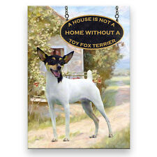 Toy Fox Terrier A House Is Not A Home Fridge Magnet Dog