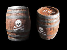 Barrel Keg Pirate Western Saloon skull crossbones Halloween Jack Sparrow prop