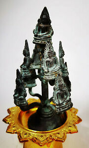 Tree of Life 9 Buddha Statue Lucky Charms Chinnarat Thai Amulet Wealth Fengshui