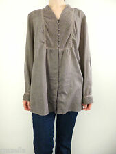 Coldwater Creek Peasant Top Blouse Pluse Size 1x Brown Boho