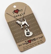 Beagle Necklace & Collar Charm Set 16 Inches