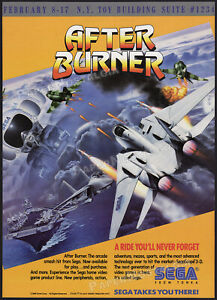 AFTERBURNER_/_SEGA__Original 1988 Trade Print AD / poster__Sega From Tonka