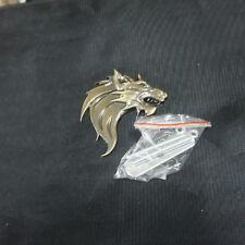 1x Metal Wolf Head Left Bronze Grille Emblem Badge 3D Turbo Power Premium Car v6