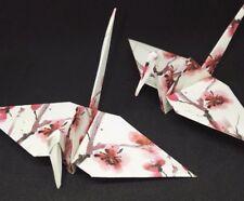 20 Large Handmade Origami Crane Wedding Favours Pink Flowers J1/47