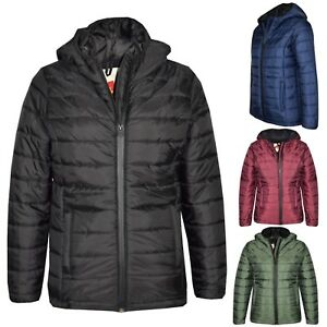 Kids Boys Jacket Designer's Foam Padded Puffa School Warm Thick Coats 3-13 Years