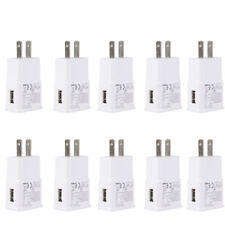 Lot 10 USB Power Adapter AC Home Wall Charger US Plug For Samsung Galaxy White