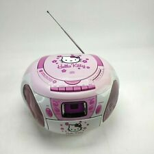 Hello Kitty Spectra Cd BoomBox with Am/Fm Stereo Radio Cassette Tape Kt2028A