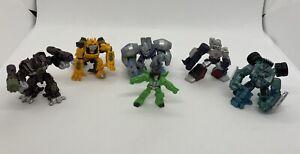Transformers Robot Heros Bundle Mini Figures Megatron Bumblebee Mixmaster