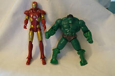Avengers - Hulk and Iron Man - PVC Figurines - Approx. 15 & 14 cm