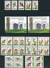 HUNGARY WORLD CUP SOCCER MEXICO '86 PERF & IMPERF SETS & S/S & PERF BLOCKS NH