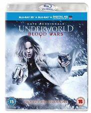 Underworld Blood Wars 3D + 2D Blu-Ray with slipcover BRAND NEW Free Shipping
