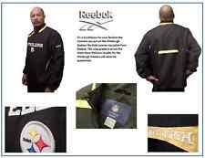 Men's Pittsburgh Steelers Reebok Black On-Field Quarter-Zip Jacket: Size M
