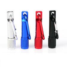 Mini Pocket LED Flashlight Telescopic Zoom Carry Carabiner Torch keychain AY018