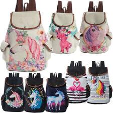 Kids Girls Women Unicorn Backpack Rucksack School Travel Shoulder Bag Satchel