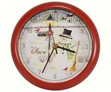 Snowman Christmas Clock with Sound