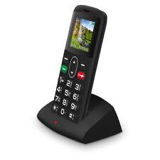 Teléfonos móviles libres negro con conexión Bluetooth con anuncio de conjunto