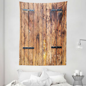 Antique Tapestry Timber Planks inTones Print Wall Hanging Decor