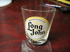 LONG JOHN SCOTCH  WHISKY  SHOT  GLASS  3''  VINTAGE  FRANCE