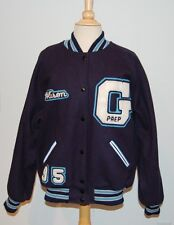 "Fun GONZAGA PREP LETTERMANS VARSITY wool JACKET 44 ""Alison"" & ""Casey"" Patches!"