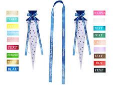 Satin Geschenkschleifen band für die Schultüte mit Namen und Tag der Einschulung