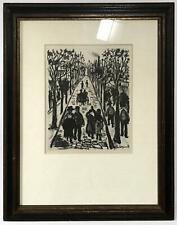 ORIGINAL Lithograph ~ MAURICE UTRILLO ~ 1927 Paris Street Rare & GENUINE