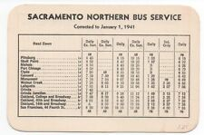 1941 Sacramento Northern Bus Pocket Schedule