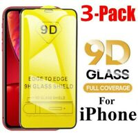 3Pcs Tempered Glass Screen Protector 9D Film Full Cover For iPhone 11 Pro MAX CA