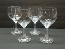 Vintage Vileroy & Boch Crystal Wine Glasses Set of 4 Connaisseur Mosel Lot Glass