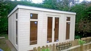 10x6ft Pent Summerhouse, Painted in a colour of your choice.