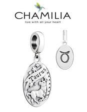 Genuine CHAMILIA 925 sterling silver TAURUS horoscope dangle charm bead, zodiac