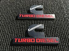 2X NEW DODGE RAM 1500 2500 3500 BLACK CUMMINS TURBO DIESEL FENDER LOGO EMBLEMS