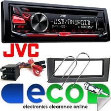 Fiat Grande Punto JVC KD-R482 CD MP3 USB AUX iPod auto stereo & GRIGIO KIT DI MONTAGGIO