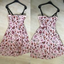 Living Dead Souls peach swing dress - 1950's / rcokabilly