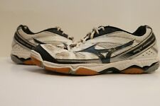 New listing Mizuno Wave Hurricane 2 Womens Size 9.5 Volleyball Shoes White Black Gray